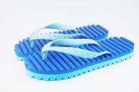 波型凹凸ビーチサンダル(青×水色)